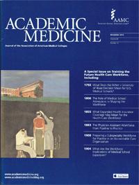 Academic Medicine' December 2013 cover.