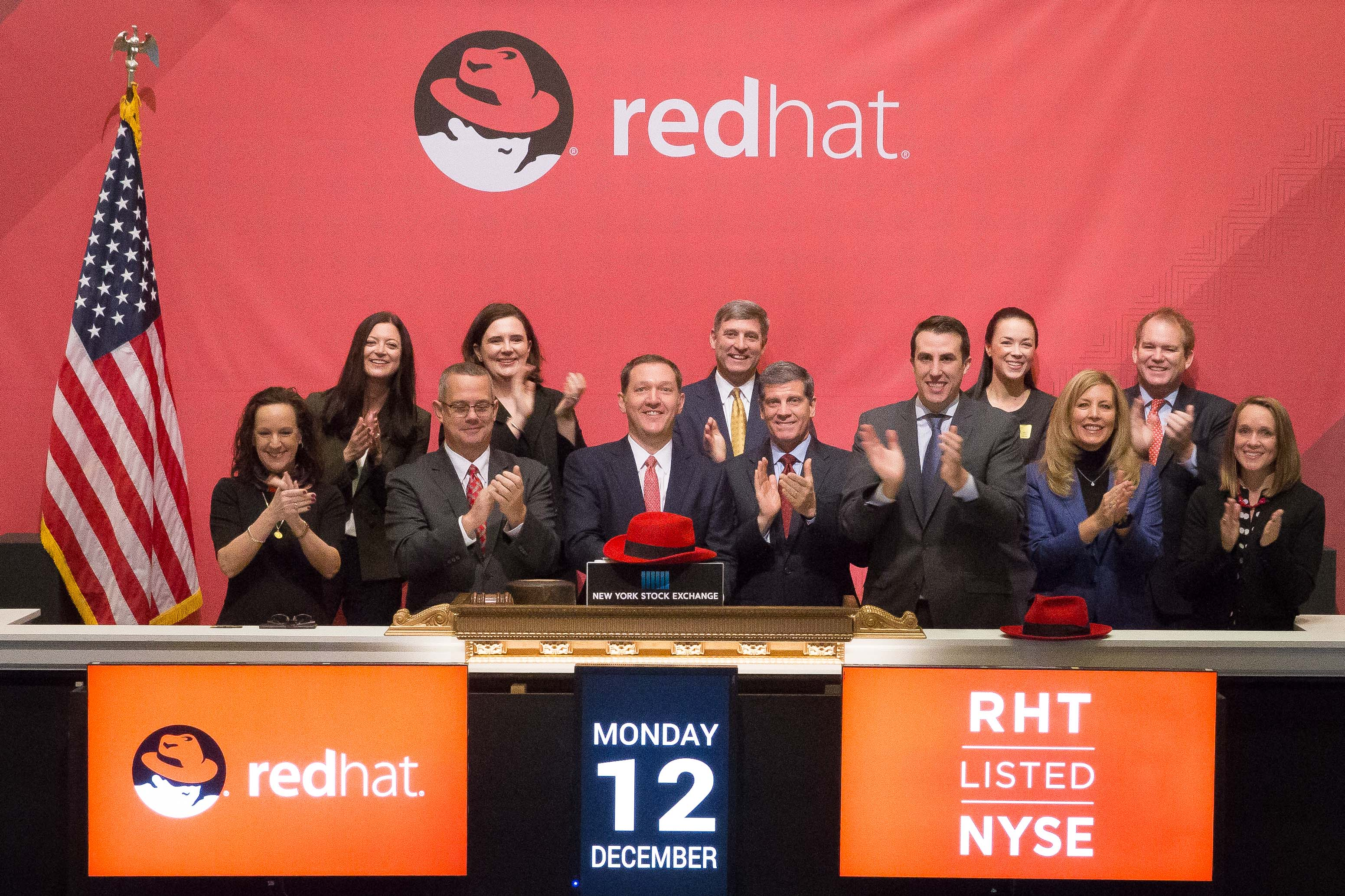 Red Hat rings the NYSE Opening Bell