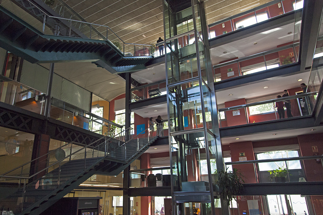 Interior view of residence hall