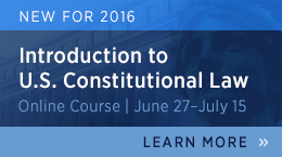 U.S. Constitutional Law Online Course
